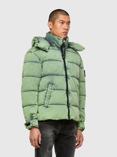 Diesel - W-EVACID, Green Fluo - Winter Jackets - Image 7