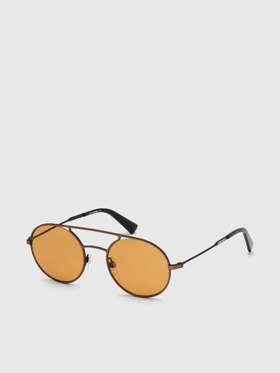 Diesel - DL0301, Orange/Black - Sunglasses - Image 2