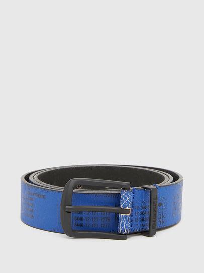 Diesel - B-DERUB, Black/Blue - Belts - Image 1