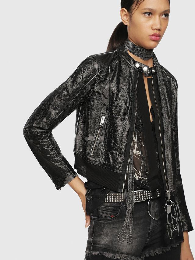 Diesel - L-LYSSA-D, Black - Leather jackets - Image 5