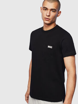 T-WORKY-SLITS, Black - T-Shirts