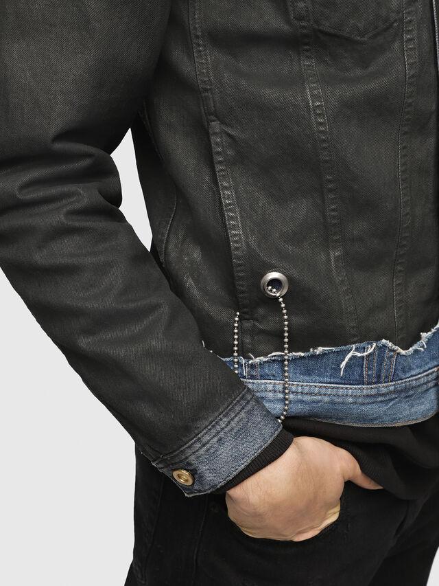 Diesel - D-CADY, Black/Blue - Denim Jackets - Image 4