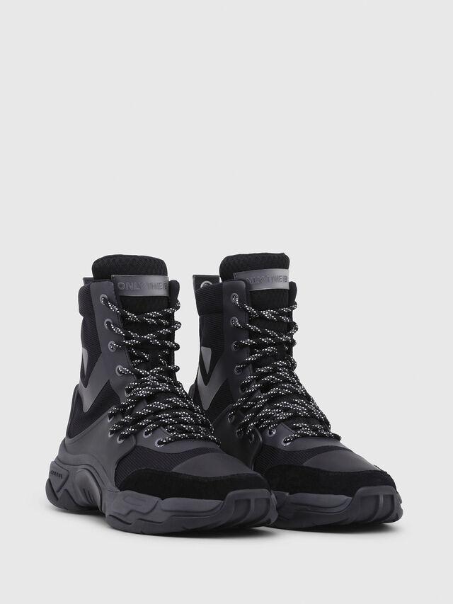 Diesel - S-KIPPER MID LACE, Black - Sneakers - Image 2