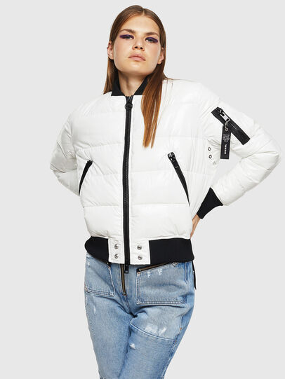 Diesel - W-ONY, White - Winter Jackets - Image 1