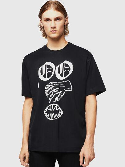 Diesel - TEORIALE-X2, Black - T-Shirts - Image 1