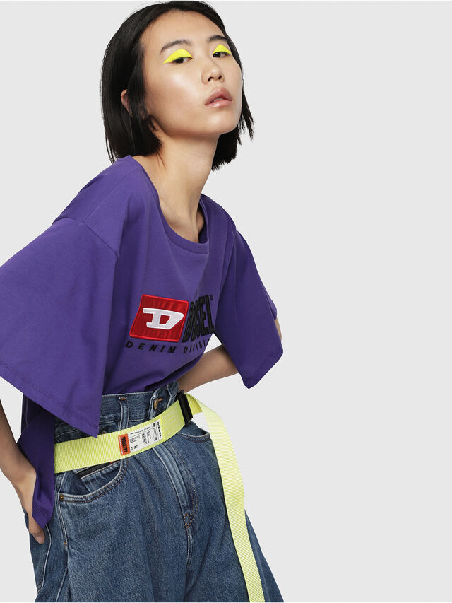 Diesel - T-JACKY-D, Violet - T-Shirts - Image 3