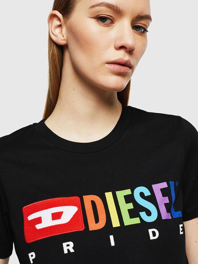 Diesel - UFTEE-SILY-INT, Black - T-Shirts - Image 3