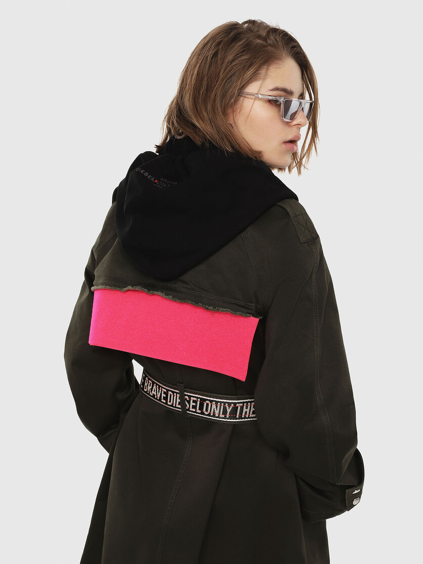 Vereinigte Staaten Sortenstile von 2019 mäßiger Preis G-ACIR-B Women: Hooded trench coat in cotton-satin | Diesel