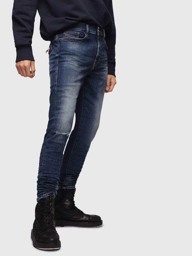 Diesel - D-Amny 086AV, Dark Blue - Jeans - Image 1