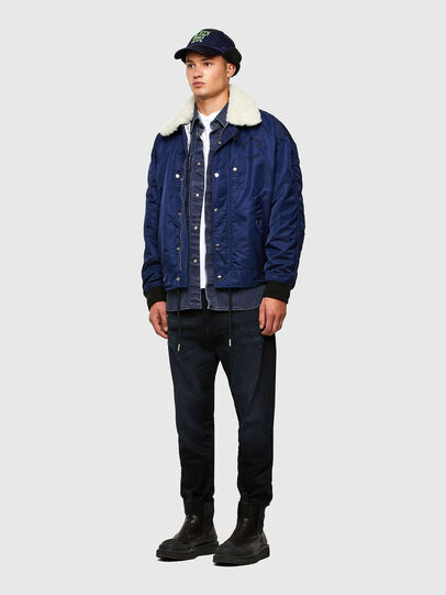 Diesel - J-LEANDER, Blue - Winter Jackets - Image 7