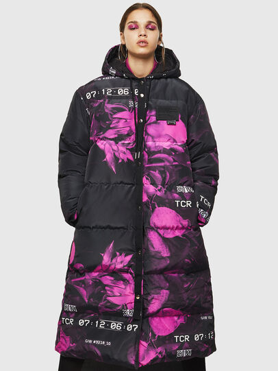Diesel - W-DORYN-B, Black/Pink - Winter Jackets - Image 5