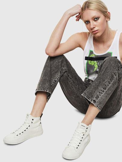 Diesel - S-ASTICO MID ZIP W, White - Sneakers - Image 6