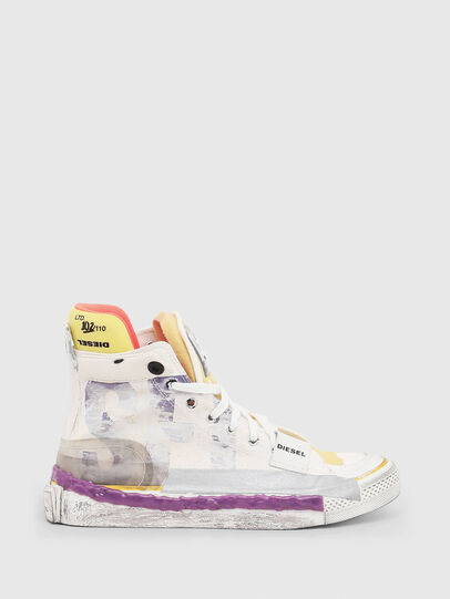 Diesel - S-ASTICO PNT W, White/Pink - Sneakers - Image 1