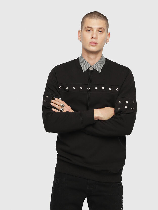 Diesel - S-GIR-XMAS, Black - Sweaters - Image 1