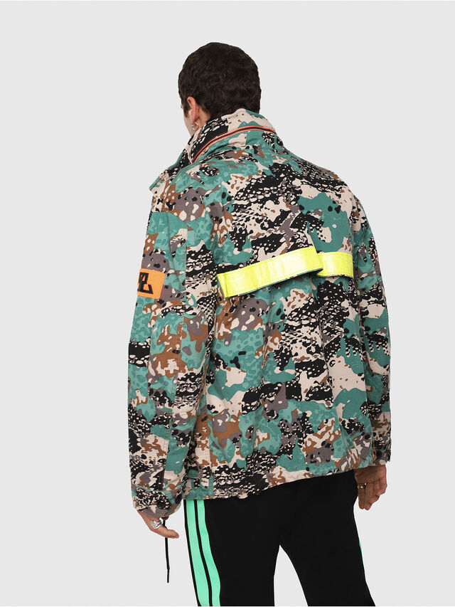 Diesel - J-TOUCHA-CAMOU, Green Camouflage - Jackets - Image 2