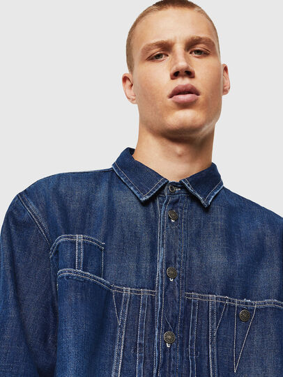 Diesel - D-FLOX, Medium blue - Denim Shirts - Image 3