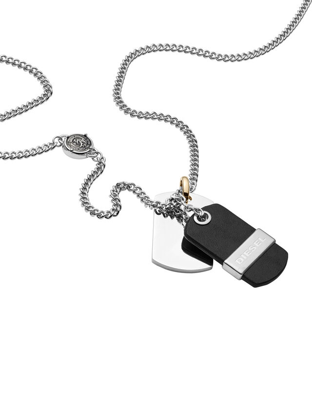 Diesel NECKLACE DX1084, Black - Necklaces - Image 2