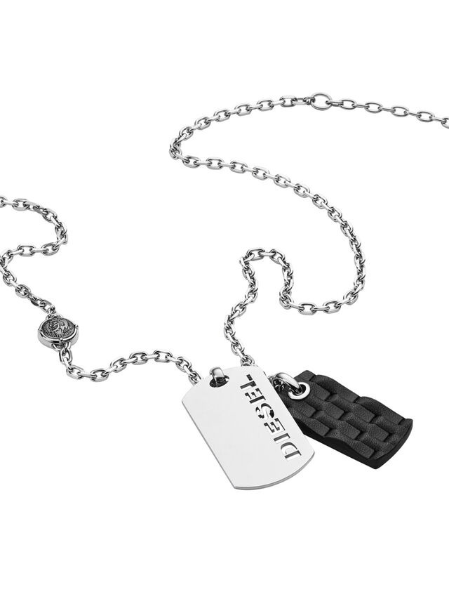 Diesel - NECKLACE DX1014, Silver - Necklaces - Image 2