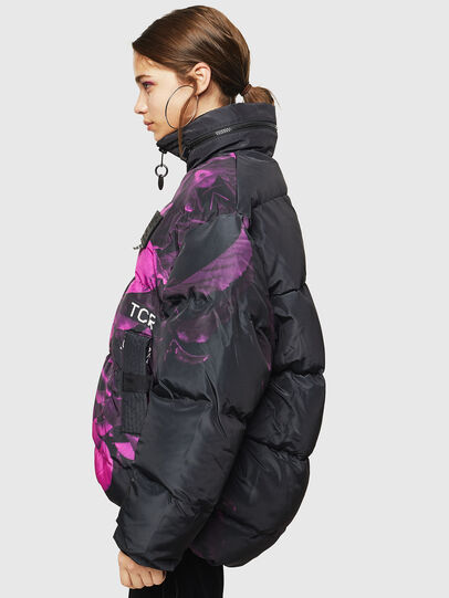 Diesel - W-PIATIGGY, Black/Pink - Winter Jackets - Image 7