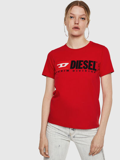 Diesel - T-SILY-DIVISION, Fire Red - T-Shirts - Image 1