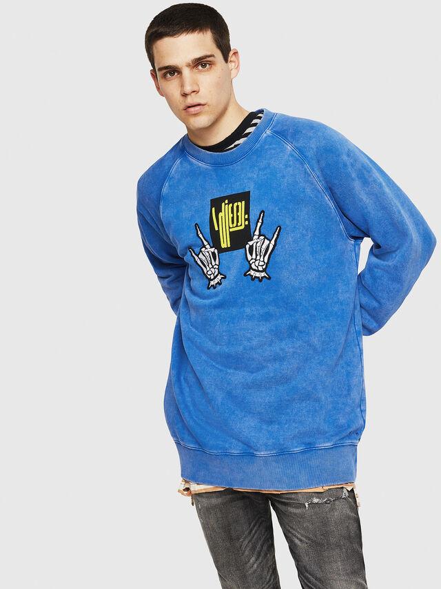 Diesel - S-RODD, Light Blue - Sweaters - Image 1