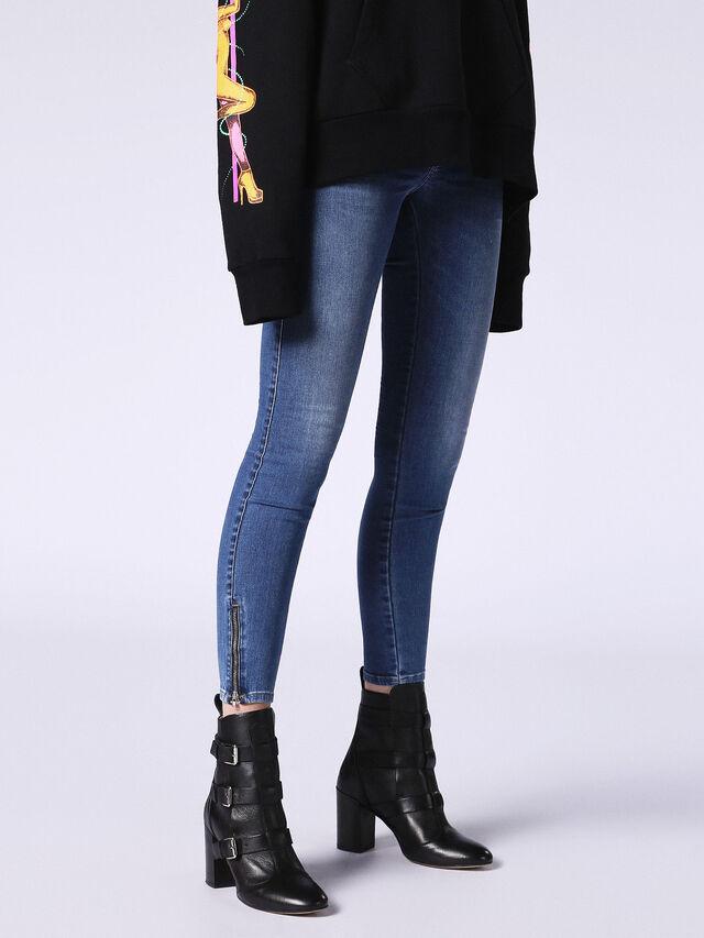 SKINZEE-LOW-ZIP 084NM, Blue jeans