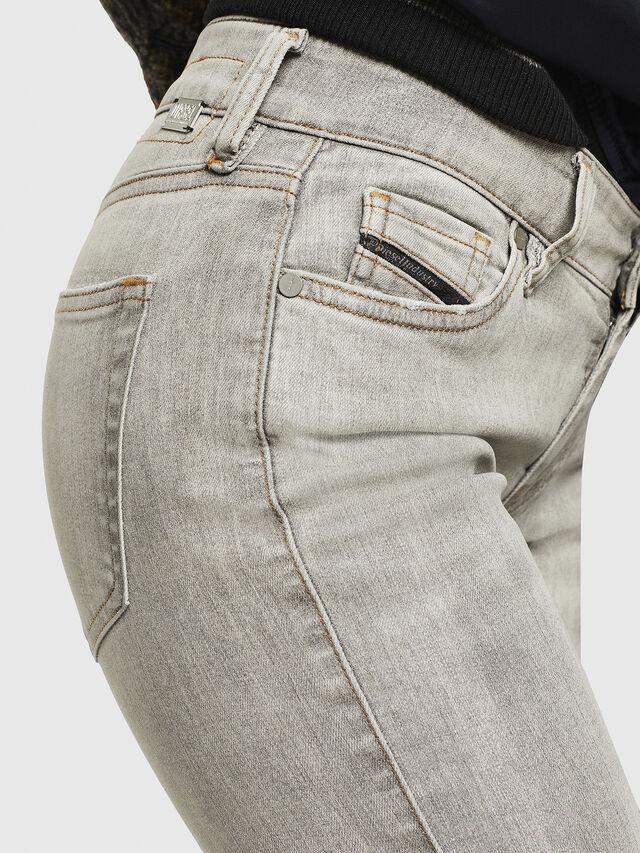 Diesel - Slandy Zip 086AE, Light Grey - Jeans - Image 4