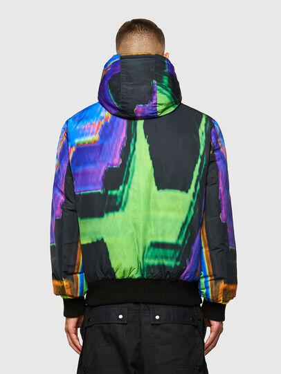 Diesel - W-ON-AOP, Blue/Green - Winter Jackets - Image 2