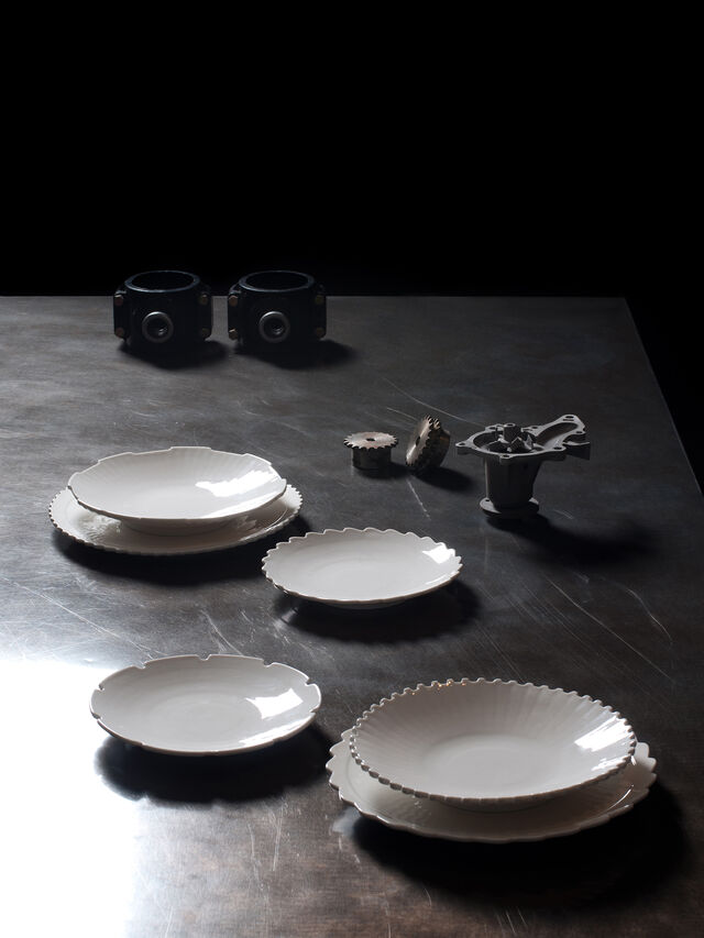 Living 10985 MACHINE COLLEC, White - Plates - Image 3