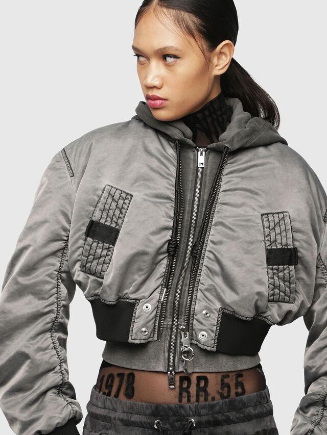 Diesel - G-IKUE, Grey - Jackets - Image 1
