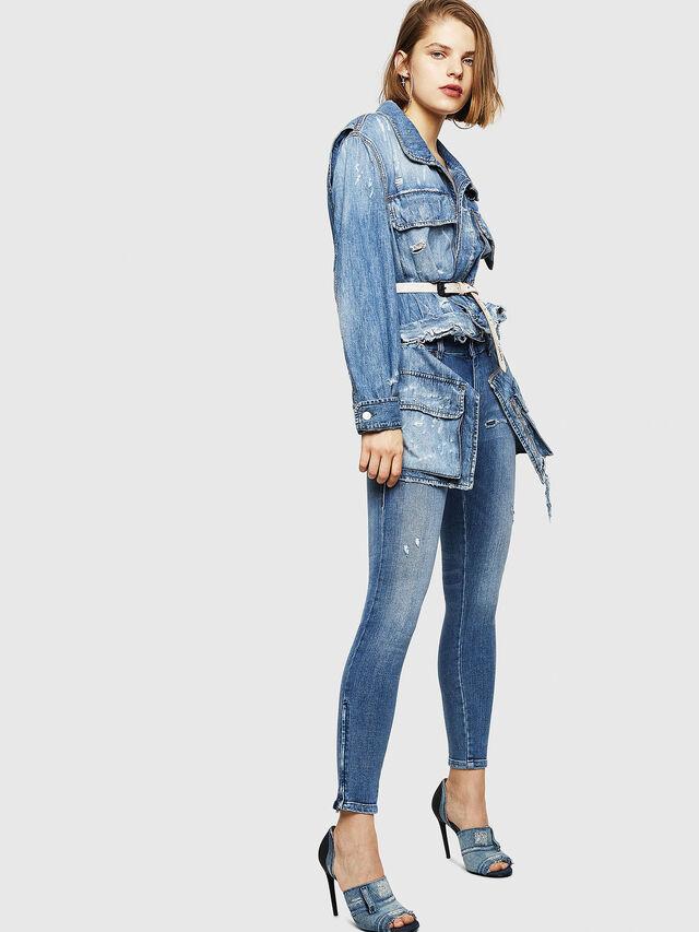 Diesel - Slandy Zip 083AP, Medium blue - Jeans - Image 5