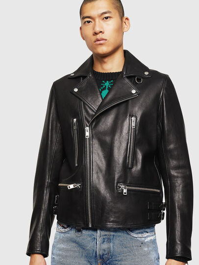 Diesel - L-GOTIV, Black - Leather jackets - Image 1