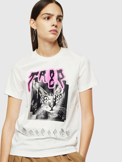 Diesel - T-SILY-YC, White - T-Shirts - Image 1
