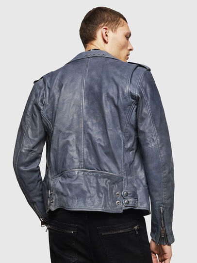 Diesel - L-KIOV, Blue - Leather jackets - Image 2