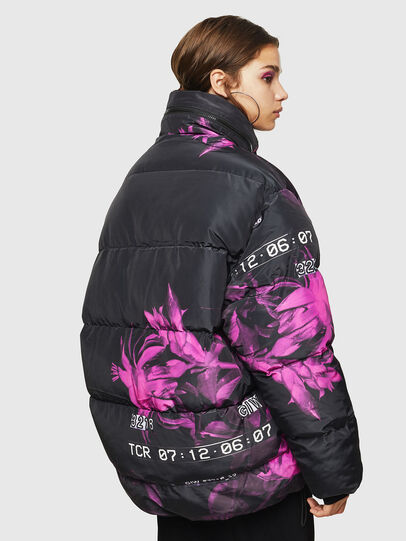 Diesel - W-PIATIGGY, Black/Pink - Winter Jackets - Image 2