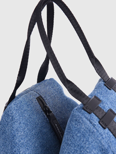 Diesel - CAGE SHOPPER XS, Blue Jeans - Bags - Image 2