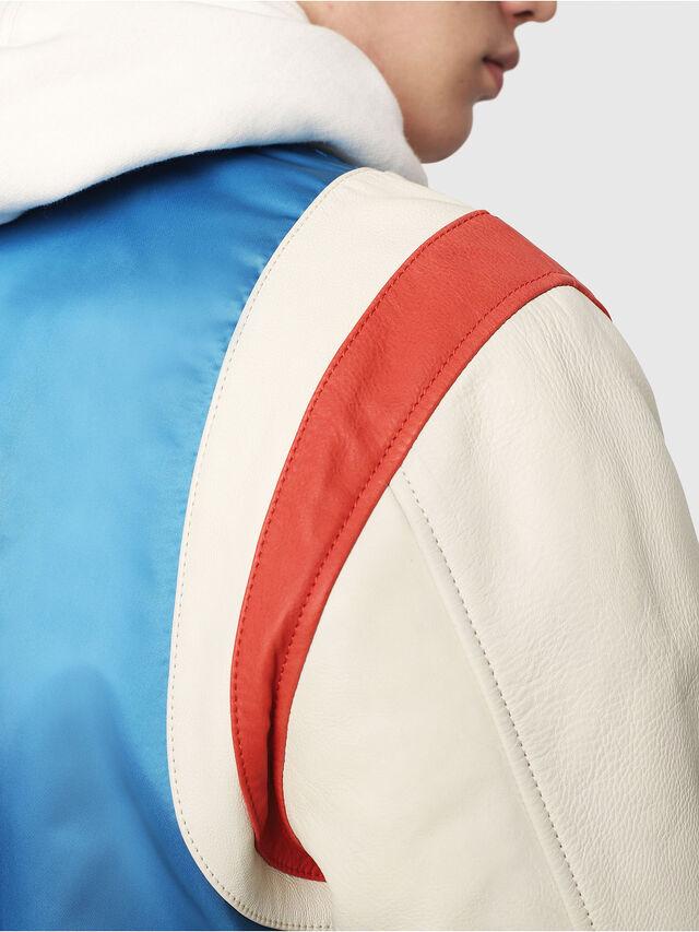 Diesel - L-HARU, White/Red/Blu - Leather jackets - Image 4