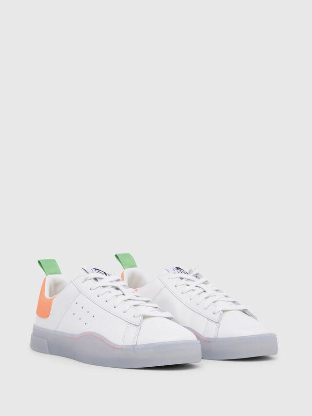 Diesel - S-CLEVER LOW, White/Orange - Sneakers - Image 2