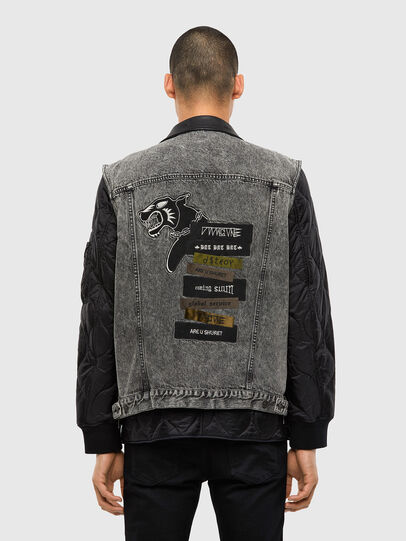 Diesel - D-DESTROY-SP, Grey/Black - Winter Jackets - Image 2
