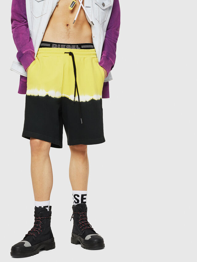 Diesel - P-TOX-DEEP, Black/Yellow - Shorts - Image 1