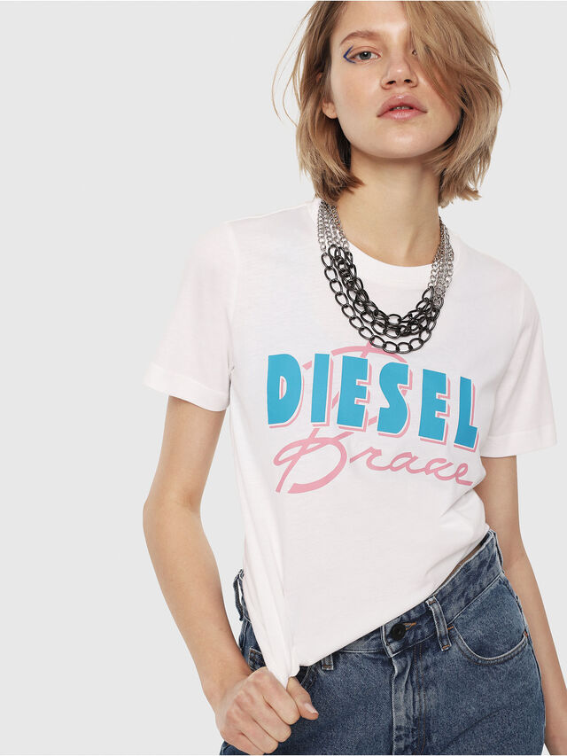 Diesel - T-SILY-C2, White - T-Shirts - Image 1