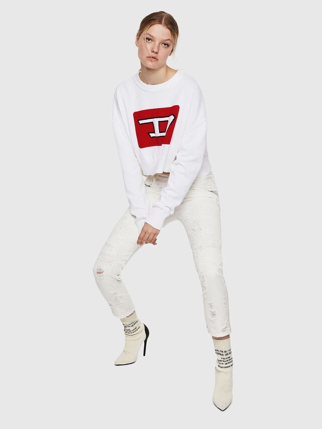 Diesel - M-LINDA, White - Knitwear - Image 5