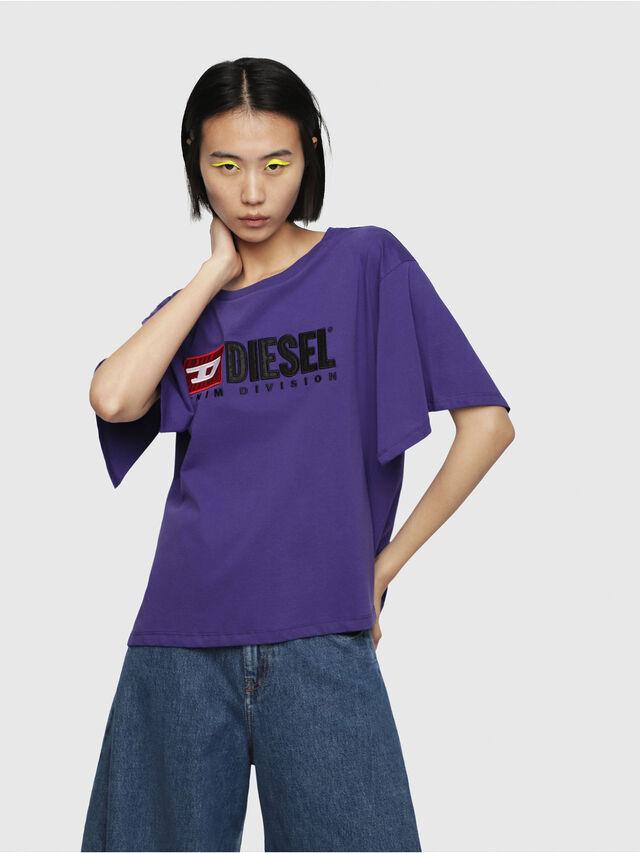 Diesel - T-JACKY-D, Violet - T-Shirts - Image 1