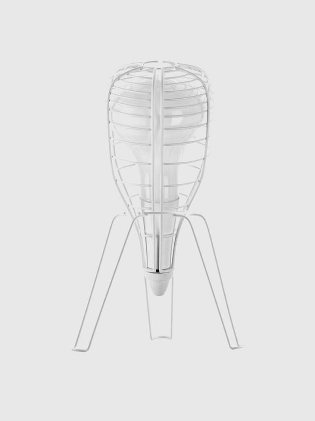 Diesel - CAGE ROCKET BIANCO, White - Table Lighting - Image 1