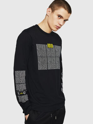 T-JUST-LS-NEW, Black - T-Shirts