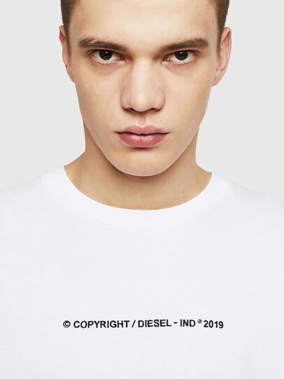 Diesel - T-JUST-LS-COPY, White - T-Shirts - Image 3