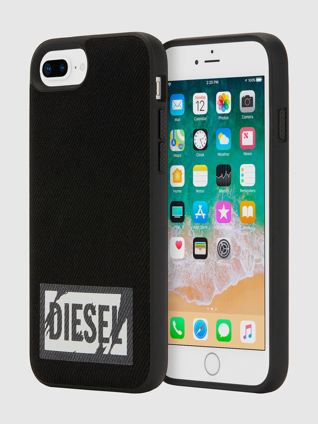 Diesel - BLACK DENIM IPHONE 8 PLUS/7 PLUS/6S PLUS/6 PLUS CASE, Black - Cases - Image 1