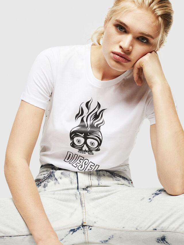 Diesel - T-SILY-WQ, White - T-Shirts - Image 4