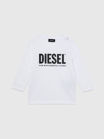Diesel - TJUSTLOGOB ML-R, White - T-shirts and Tops - Image 1