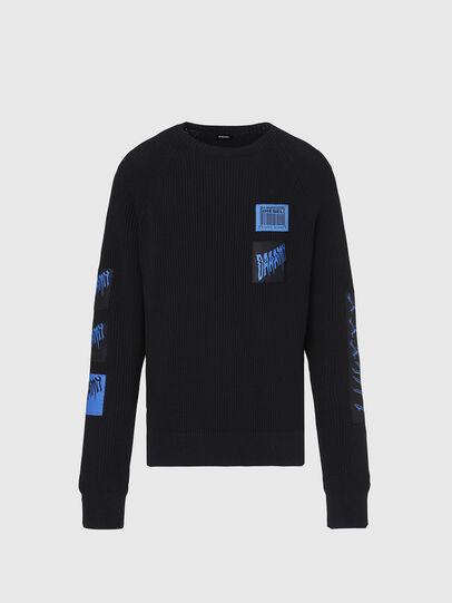 Diesel - K-SIMON, Black - Knitwear - Image 1